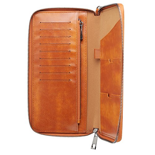 Gallaway Leather Travel Wallet Two Passports Holder Cover Documents ()
