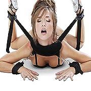 #LightningDeal 93% claimed: ISIVE Bondage Restraint Set Straps On, Fetish Hands Ankles Thigns Restraints Set with Blindfold Eyemask , Under Bed Restraints for Couples - Discreetly Box Packaged