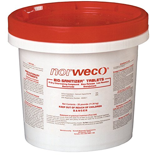 Septic Chlorine Tablets - Norweco 10lb. Bio-Sanitizer Chlorine Tablets for Aerobic or Septic Systems