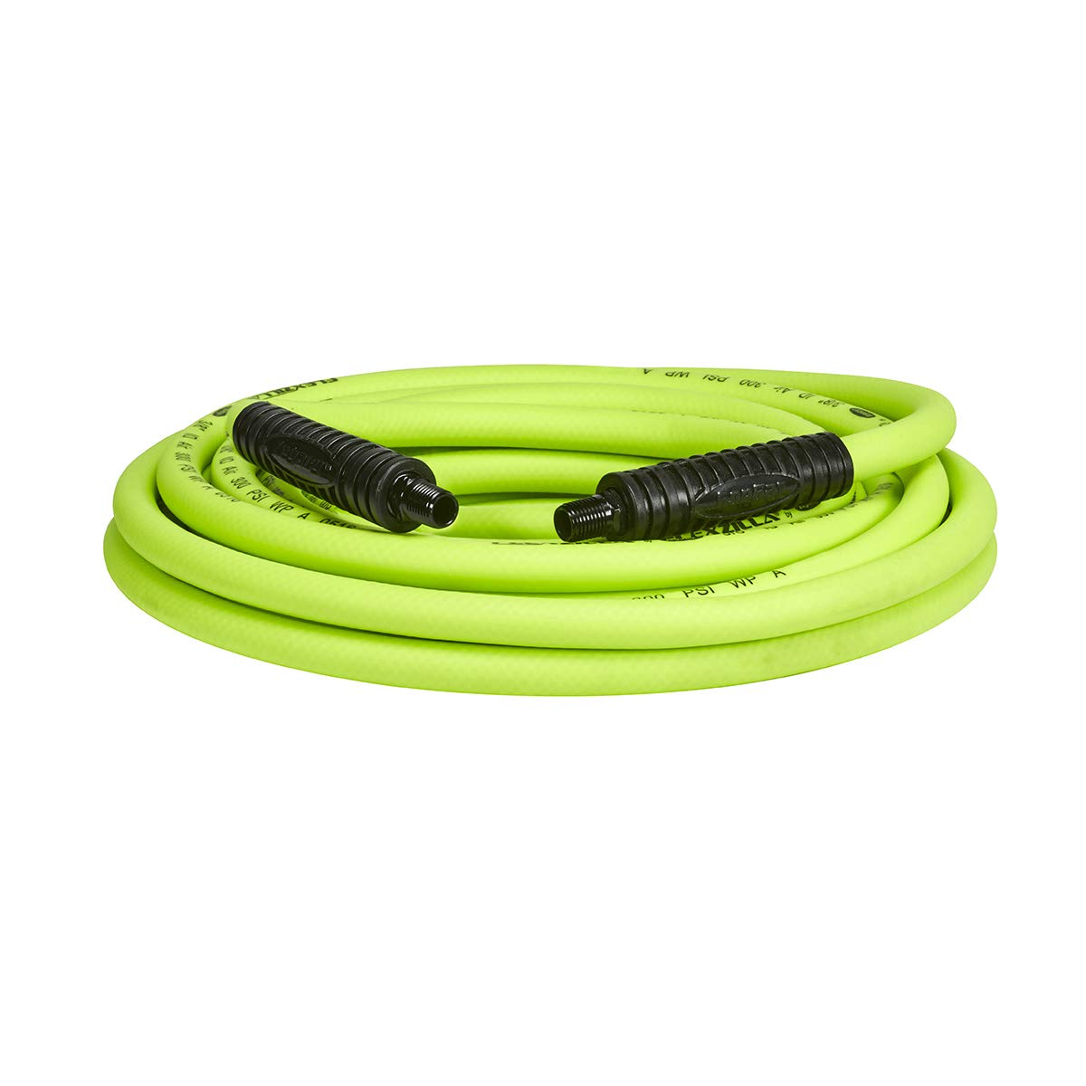 Flexzilla Air Hose, 3/8 in. x 25 ft, 1/4 in. MNPT Fittings, Heavy Duty, Lightweight, Hybrid, ZillaGreen - HFZ3825YW2