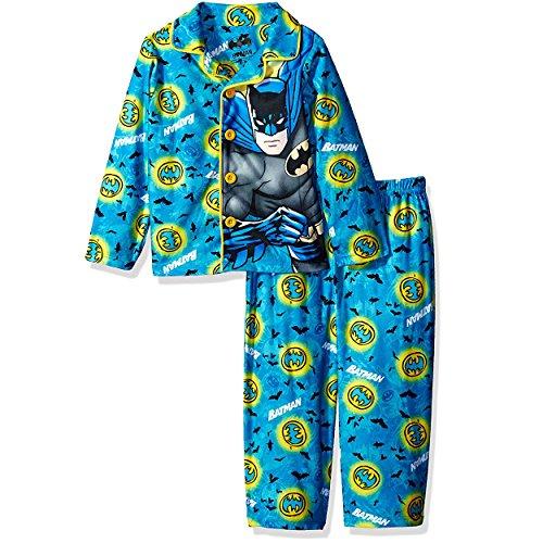 DC Comics Little Boys' Toddler Batman Sleepwear Coat Set, Turquoise, 3T ()