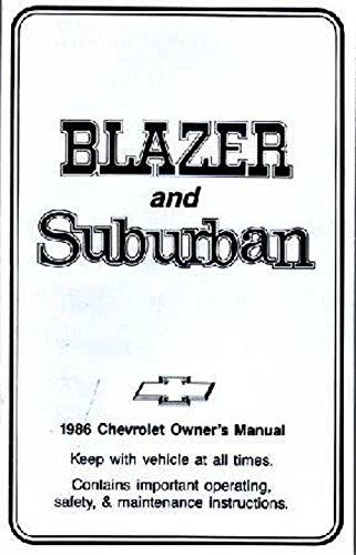 Chevrolet Blazer Suburban Owners Manual - 8