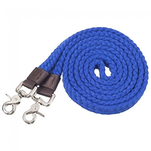 Tough-1 Pro Cotton Roping Rein Royal Blue