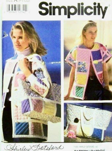 Simplicity 7893 Sewing Pattern Misses Quilted Jacket Bolero Vest Tote Bag Size 6 - 20