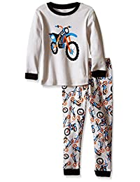 "Elowel Little Boys ""Motorcycle"" 2 Piece Pajama Set 100% Cotton - (Size 2-8Years)"