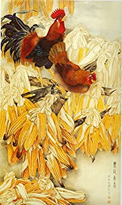 Harvest of Corn Oil Painting Reprodution. Based on Famous Traditional Chinese Realistic Painting. (Unframed and Unstretched).
