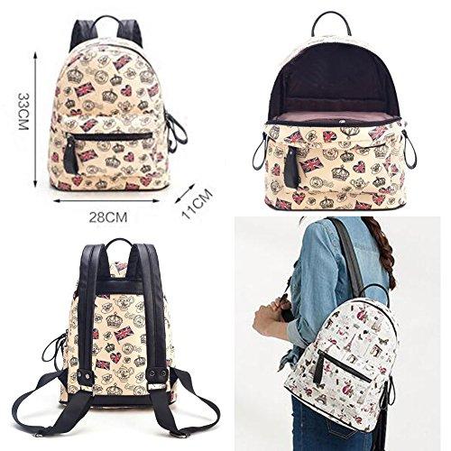 Stylish Outdoors Rucksack Schulrucksack mit Smart Pattern f?r M?dchen, Nr.3