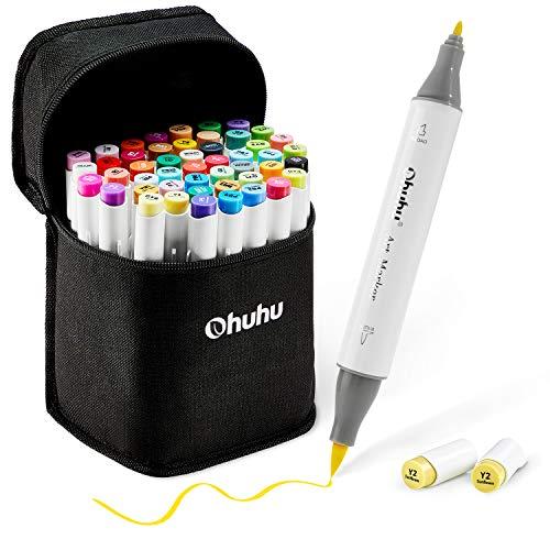Marcadores dobles punta pincel(brush pen) y fino 48 unidades