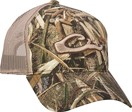Back Logo Cap Hat - Drake DH3011BLA Men's Mossy Oak Shadow