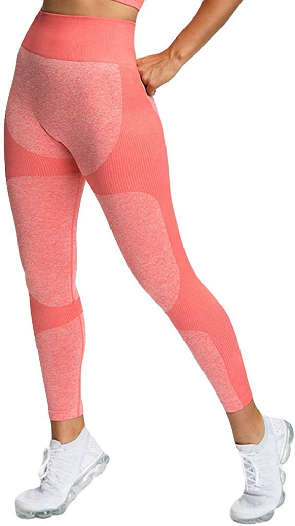 Workout Leggings for Women Athletic Yoga Pants Workout Gym Running Tights Capri Sweatpants for Women