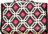 Multi-Color Geometric Hanging Travel Jewelry Roll Organizer - 26 compartments