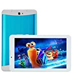 GSKY blue Metal 7'' Dual Core Dual SIM Unlocked Phone Tablet Android 4.2.2 Tablet Pc, Dual Camera, Hd 1024x600, 4gb, Google Play Pre-loaded, 3g+wi-fi Supported White 7 Inch Unlocked Smart Phone +Tablet='' Phablet'' Android 4.2 Gsm,t-mobile,h20,net10 3g Phone Tablet 2015 Newest 7