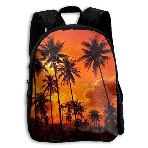 Beach-sunset-beautiful-nature-landscape-sky Print Kids Backpack Toys Bag Toddler Bag For Children