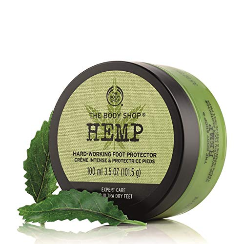 The Body Shop Hemp Foot Protector, Paraben-Free Foot Cream, 3.5 Oz.