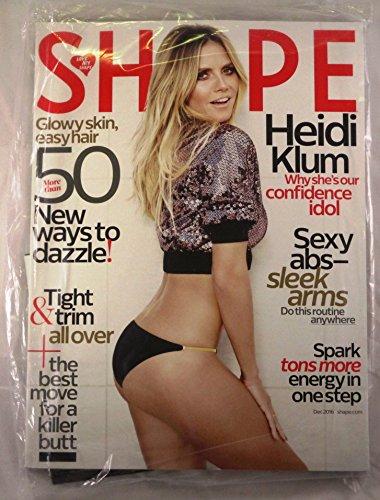 Shape magazine December 2016 { heidi klum Cover}