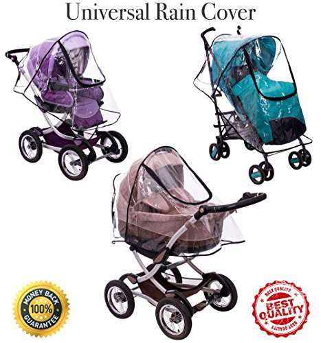 Rain Cover - Mosquito Net - Stroller Rain Cover and Baby Mosquito Net (2-Piece Set) Waterproof, Windproof Protection - Travel-Friendly, Outdoor Use - Easy to Install and Remove