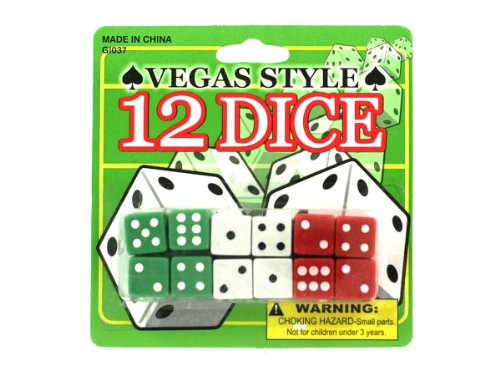 Bulk Buys GI037 Vegas Style Dice Case of 120