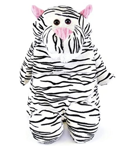 Cute Plush and Cuddly Animal Hot Water Bottles (White tiger) by Things2KeepUWarm (Hot Water Bottle Made In England)