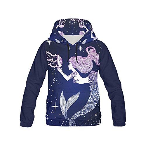 D-Story Mermaid Pullover Hoodie Hooded Sweatshirt For Women D7Rli1nl