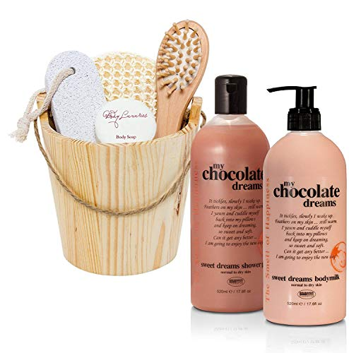 - BRUBAKER 7 Pcs Happiness 'Chocolate Dreams' Body Milk, Shower Gel and Spa Bath & Body Gift Set