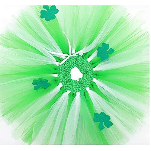 St. Patrick's Day Tutu Dress for Girls Kids Dress up Green Tutu Costume (Green, -