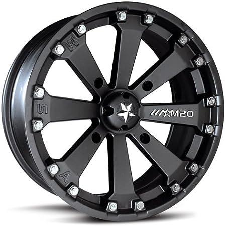 9 Items Bundle MSA Black Diesel 15 ATV Wheels 32 Kanati Mongrel Tires 4x156 Bolt Pattern 12mmx1.5 Lug Kit