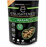 Enlightened Bada Bean Bada Boom Crunchy Broad Beans Snacks, Wasabi, 4.5 Ounce