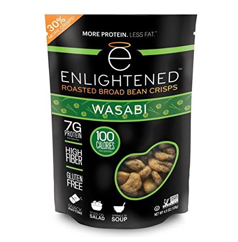 Enlightened Roasted Broad Bean Crisps - Wasabi 4.5 OZ / Singles