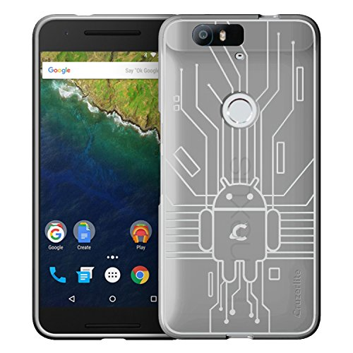 HUAWEI Nexus 6P Case, Cruzerlite Bugdroid Circuit Case Compatible for HUAWEI Nexus 6P - Retail Packaging - Clear