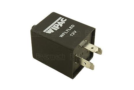 Amazon.com: LAND ROVER LED ADJUSTABLE FLASHER RELAY WIPAC LED 4 PIN on led electronic flasher wiring, led flasher wiring diagram, led flasher relay schematic, 3 prong turn signal flasher wiring,
