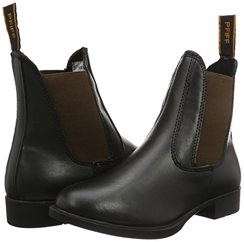 Equitación Piel Negro De Botines negro Jodhpur Pfiff marrón Botas Aspecto xwfCUPC1q