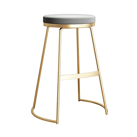 Astounding Amazon Com Velvet Upholstered Bar Stools Backless Metal Gmtry Best Dining Table And Chair Ideas Images Gmtryco
