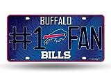 NFL Buffalo Bills #1 Fan Metal Auto Tag