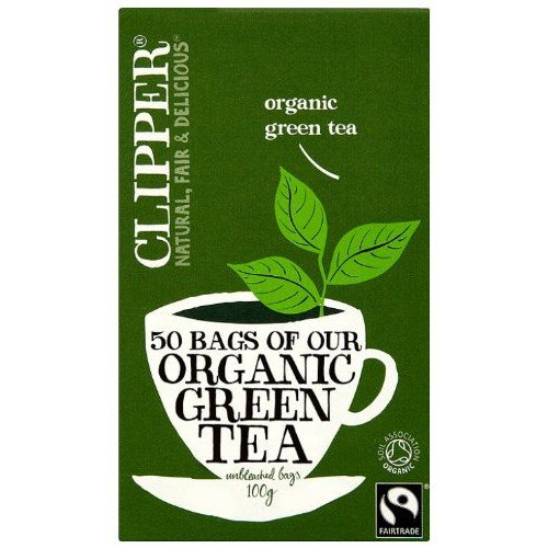 (4 PACK) - Clipper - Ft Organic Green Tea | 50 Bag | 4 PACK BUNDLE