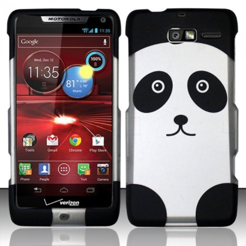 - For Motorola Droid RAZR M 4G LTE XT907 (Verizon) Rubberized Design Cover - Panda Bear