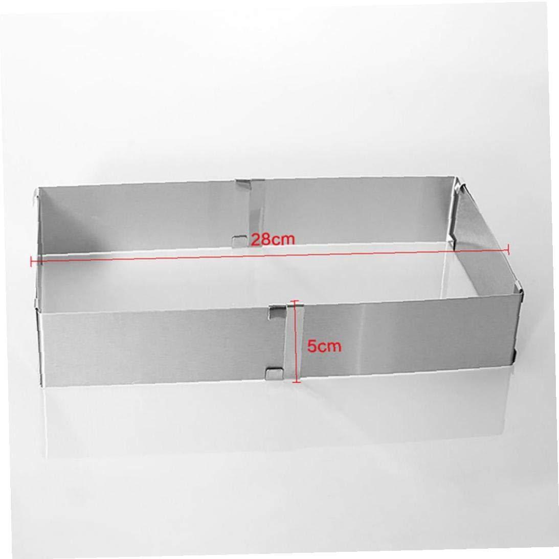 CULER Regolabile in Acciaio Inox 16-30 Torta della Mousse di Stampo Quadrato Forma di Anello casa