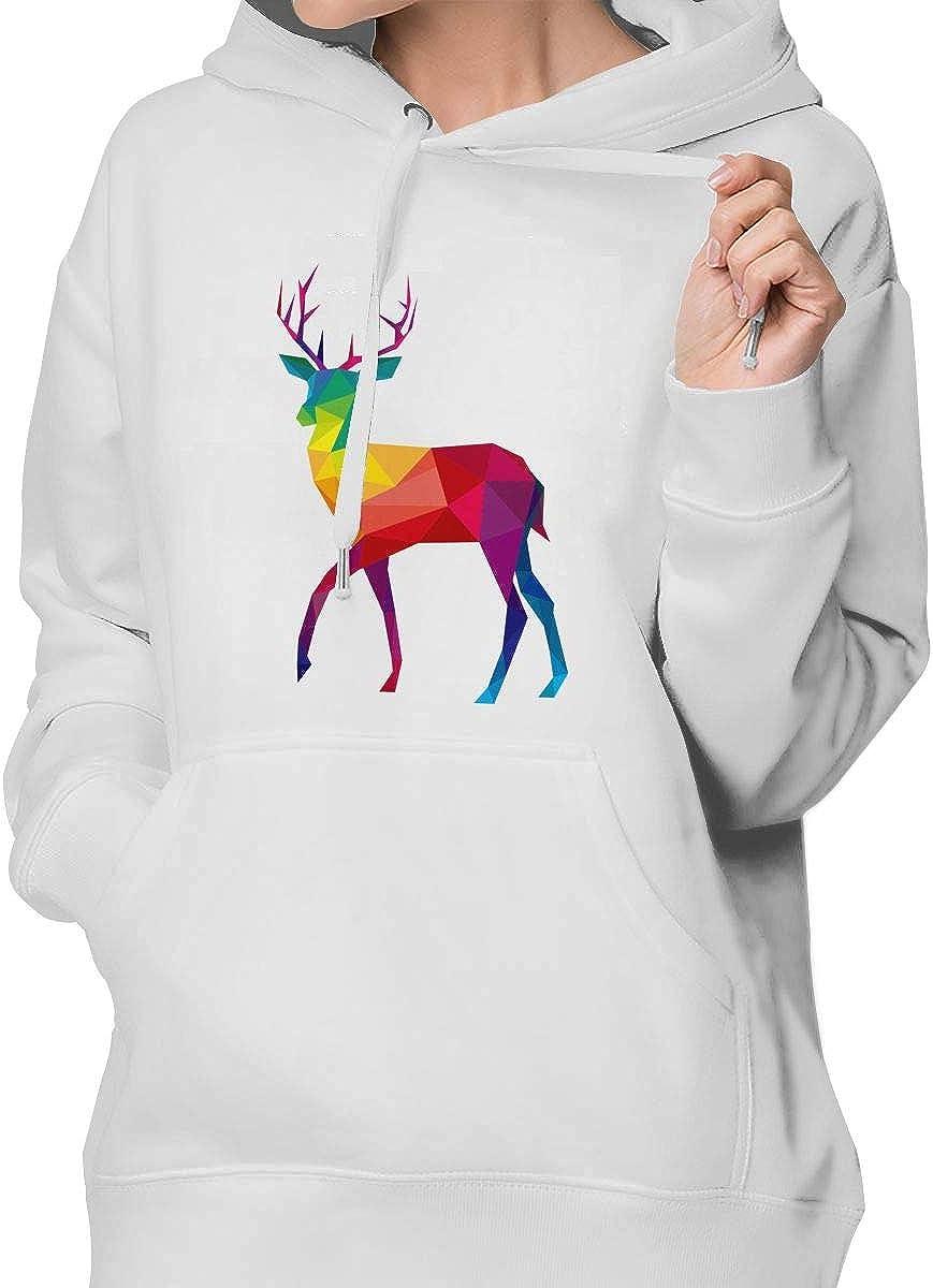 Colored El-k Classic Regular Pocket Sweatershirt Hoodie Sweater for Women M White