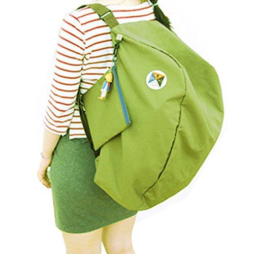 Canvas Baguette Handbag (ISHOWStore Backpack Casual Daypacks Shoulder Satchel Bag Handbag College Organiser (Green))