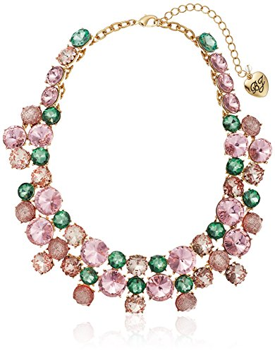 - Betsey Johnson Marie Antoinette Mixed Faceted Stone Collar Necklace