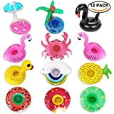 Running Ant Inflatable Drink Holders 12 Packs Swim Drink Floats Coasters Summer Pool Beverage Boat Cup Holders for Pool Party Supplies