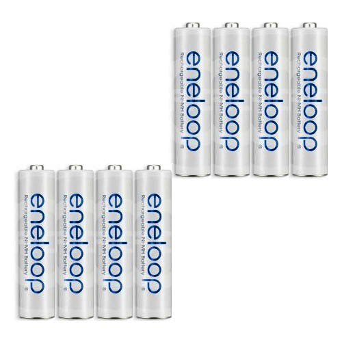 Price comparison product image eneloop (2nd gen) AAA 1500 Cycle, Ni-MH Pre-Charged Rechargeable Batteries, 8 Pack (discontinued by manufacturer)