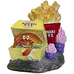 Blue Ribbon EE-411 Pet Products Exotic Environments Burger & Fries Aquarium Ornament