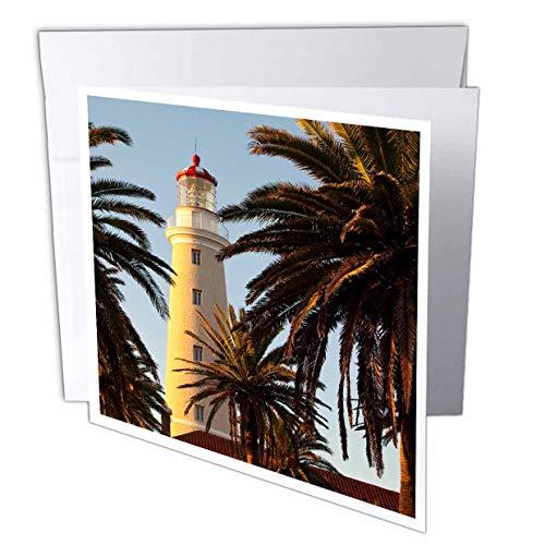 (3dRose Danita Delimont - Uruguay - East Point Lighthouse, Punta Del Este, Uruguay, South America - 12 Greeting Cards with envelopes (gc_314401_2))
