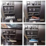 JKCOVER Interior Inner ABS Black Fuse Box Coin