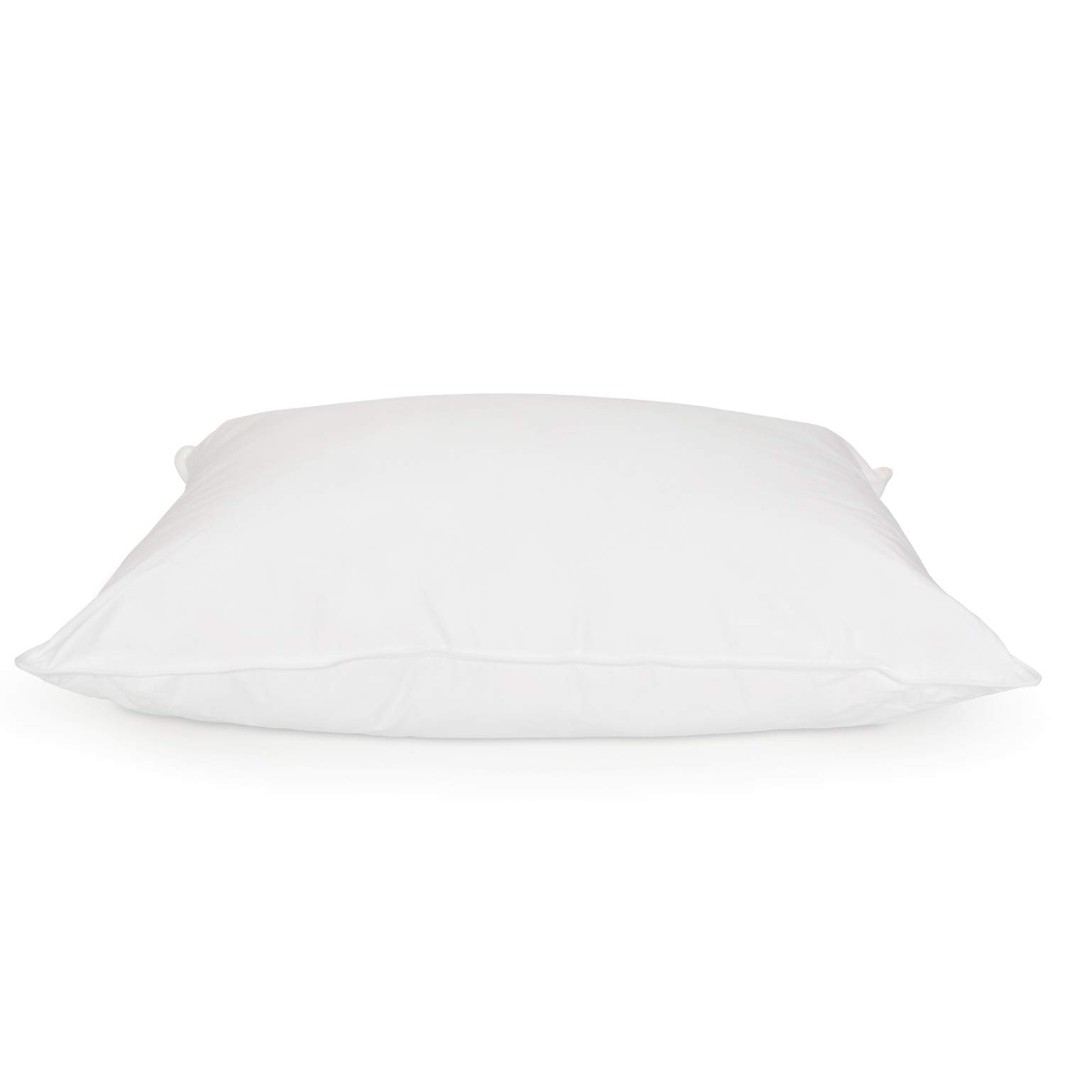 DOWNLITE Luxury Hotel Collection 400 TC 25/75 Down and Feather Blend Pillow - Medium Firm Density Hypoallergenic White Goose Down (King 20'' x 36'')