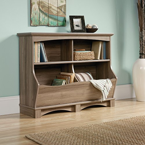 sauder-harbor-view-bin-bookcase-salt-oak-finish