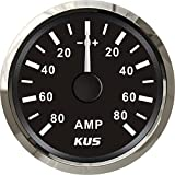 "KUS Ammeter AMP Gauge 80A With Current Pick-up Unit 52mm(2"") With Backlight"