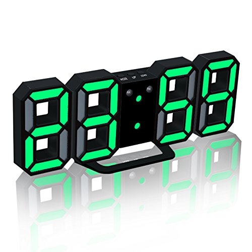 EAAGD Electronic LED Digital Alarm Clock [Upgrade Version], Clock Can Adjust the LED Brightness Automatically in Night ()