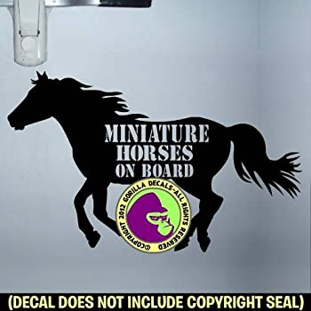 Horses on Board Fluorescent Magnetic Warning Sign