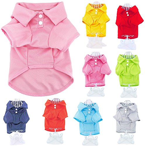 Cute Puppy Cat Dog Polo Shirt T-Shirt Solid Clothes Apparel for Small Pet